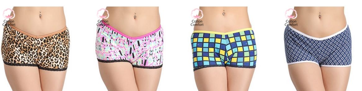 Clovia offers 2 Boyshorts @ Rs 299 only