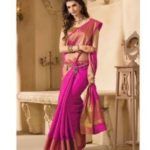 Indian Beauty Art Silk Saree with Blouse @ Rs 199