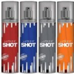 Layer'r Shot (Set Of 4) Red,Smokin,Desire,Royal Deo Pack For Men Combo Set  (Set of 4)