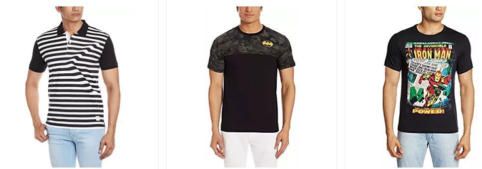 Men's T-shirts under ₹499: Levi's, Wrangler, U.S.Polo & more