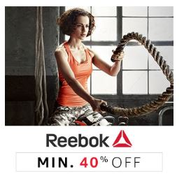 Min 40% off on reebok