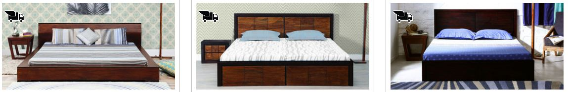 PepperFry Offers Upto 50% OFF on King size bed with storage