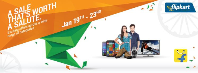 Republic day offers from flipkart