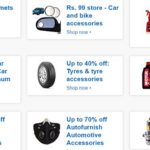 Amazon offers : Up to 70% off car and bike accessories