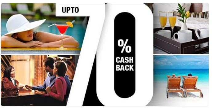 Upto 70% cashback (max Rs 2600) & use 100% wallet amount for hotel booking