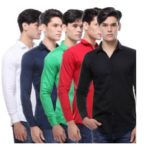Vsi Multicolor Full Sleeves Cut Away Collar Casual Shirt For Men(5 pcs) @ Rs 799