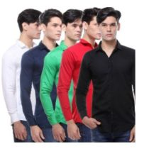 Vsi Multicolor Full Sleeves Cut Away Collar Casual Shirt For Men