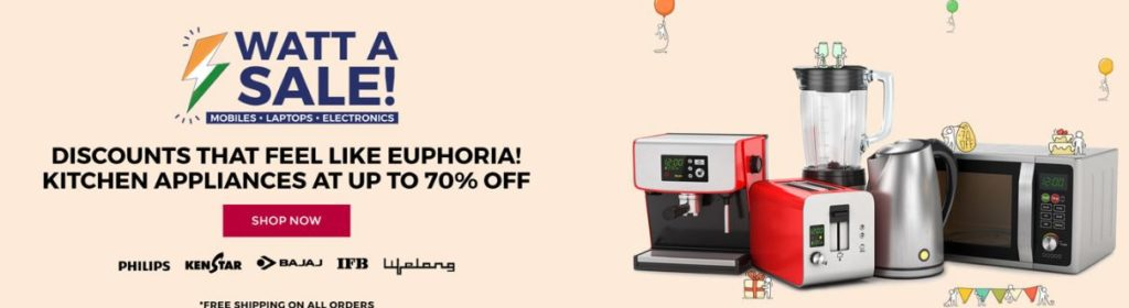 Watt a Sale n Kitchen Appliances upto 70% OFF from TataCliq