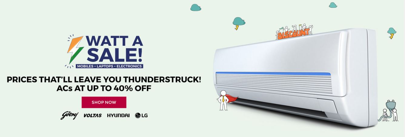 Tata CLiQ Offers Watt A Sale Electronics Sale