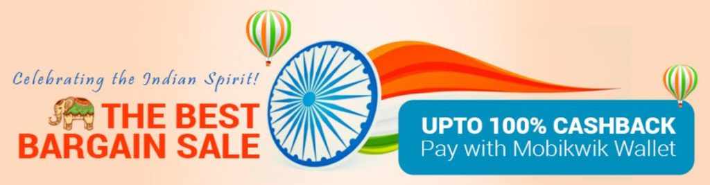 infibeam republic day offers - the best bargain sale - upto 100% cashback with mobikwik wallet
