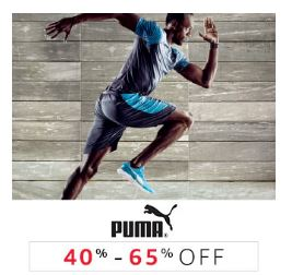 puma - 40 to 65% off from amazon