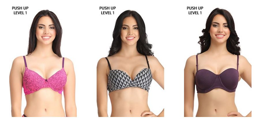 2 Push Up Bras @999 Only on Clovia