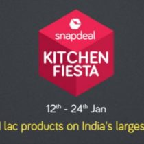 snapdeal kitchen fiesta - 12th to 24th Jan 2017