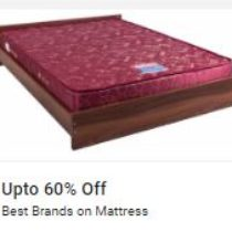 upto 60% off on best brands on Mattress