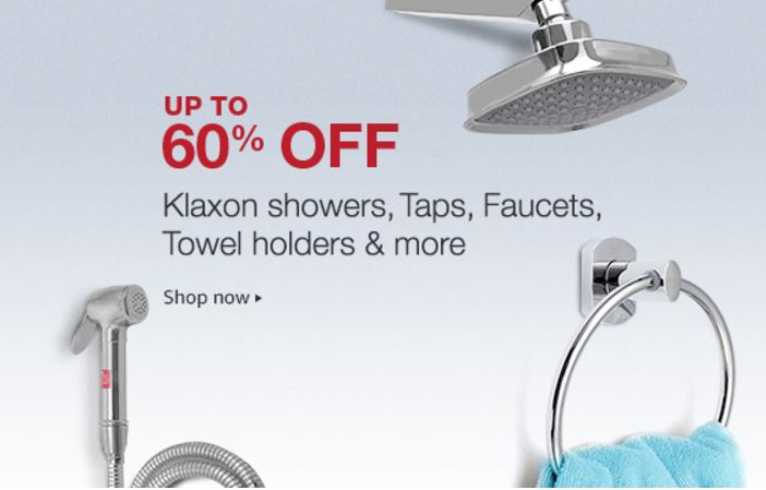Klaxon showers, taps & more Up to 60% off