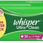 Buy Whisper Sanitary Pads upto 10% discounts from flipkart.com