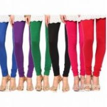 Stylobby Multicolor Cotton Lycra Plain Leggings For Women (Pack Of 6)