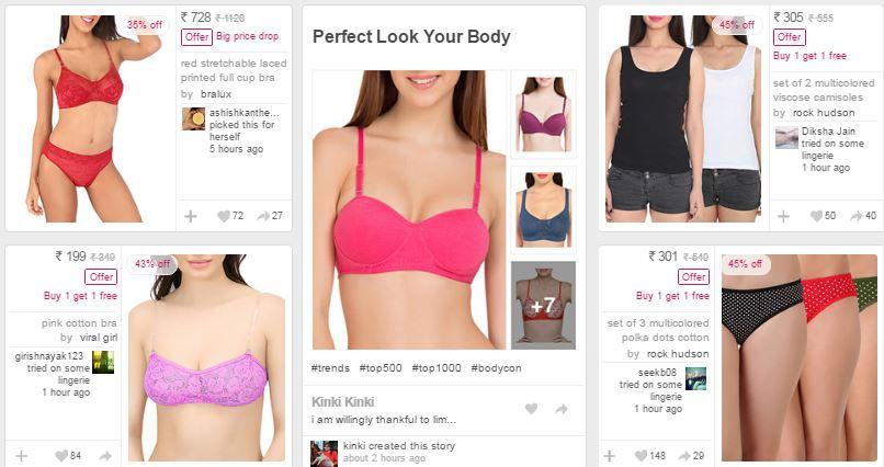 LimeRoad : buy 1 get 1 free – designer lingerie online