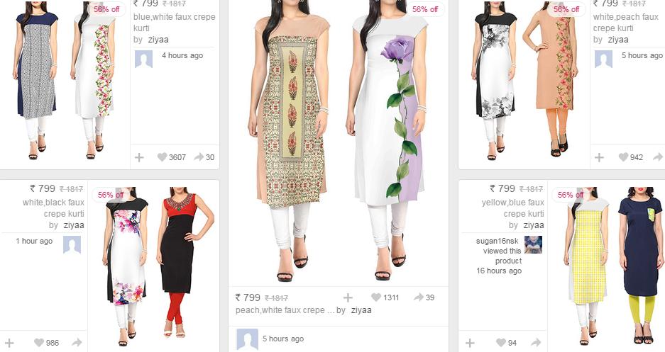 Limeroad Kurtis Online – Get Latest Ladies Kurtis Designs – Get Upto 50% Off