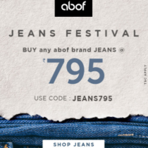 abof jeans festival - buy Rs 795 any brands jeans