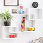 Artesia Inntersecting Wooden Wall Shelf  (Number of Shelves – 3, White) on flipkart at just Rs 1169