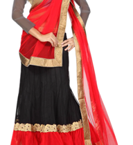 Black Net Lehenga at 60% discount
