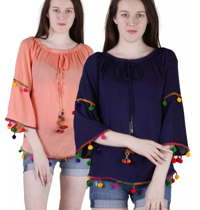 Combo of beautiful tops available at 61% off
