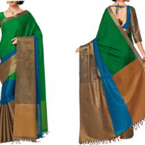 Cotton Silk Sari at 18% off