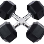 Credence 5kg X 2pcs Hexagonal Rubber Coated Fixed Weight Dumbbell  (10 kg) on flipkart  at just Rs 1675