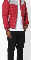 Fort Collins colorblock quilted jacket with hoodie