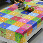 Freely PVC Vinyl Rectangle Table Cover – Multicoloured on homeshop18.com at just Rs 399