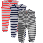 Gkidz Infants Pack Of 3 Striped Sleeveless Sleepsuits on vonik.com at just Rs 799