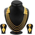 Gold Finish Necklace Set by Sukkhi worth Rs. 7058 available at only Rs.3529