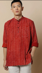 Hand block Short Kurta at 45% off