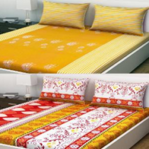 Indiana Home 6 Pc Cotton Double Bed Sheet Set on homeshop18.com at just Rs 1099