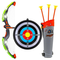 Kids Toy Bow & Arrow Archery Set with Arrow Holder with Target Stand
