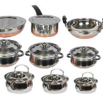 Klassic Vimal 11 Pcs Copper Bottom Set & 6 Pcs Induction Cook & Serve Set just Rs 1599