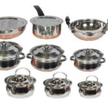 Klassic Vimal 11 Pcs Copper Bottom Set & 6 Pcs Induction Cook & Serve Set just Rs 1599