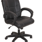 Ks chairs Leatherette Study Arm Chair  (Black) on flipkart at just Rs 4899