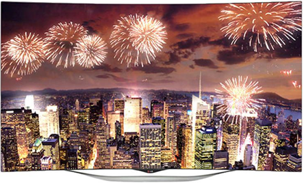 LG HD Curved LED Television at 45%off