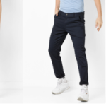 Mid-Rise Flat-Front Trousers for Men available at an offer of 30% off on ajio.com