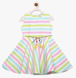Multi-coloured dress for kids at 50%