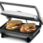 Nova 2 slice sandwich maker grill  (black & steel) now available at just Rs 1295