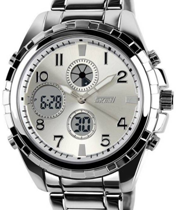 Predictway Skmei Silver Analog Digital Watch now at just Rs 1199 on voonik
