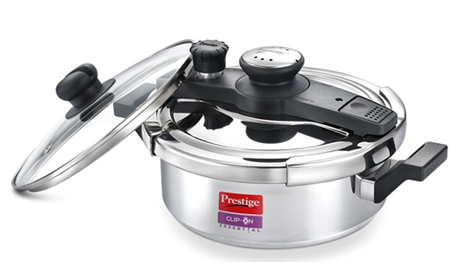 Prestige Clip-On Essential Aluminium 3 L Pressure Cooker on amaon at just Rs 2630