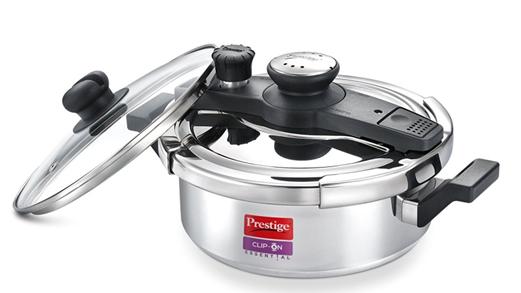 Prestige Clip-On Essential Aluminium 3 L Pressure Cooker on amaon at just Rs 2630