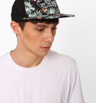 Printed trucker cap with appliqué on ajio.com at Rs 800