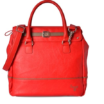 Red Leatherette Regular Handbag by Baggit available at a discount of 5%.