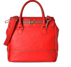 Red Leatherette Regular Handbag by Baggit