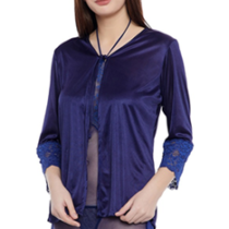 Satin Short Robe worth Rs. 799 available only at Rs.599